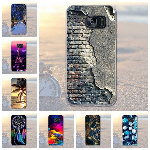 for Galaxy S7 Edge Phone Bags Case Cover for Samsung Galaxy S7 Edge G935 Soft TPU Animal Scenery Case for Samsung S7 Edge G935