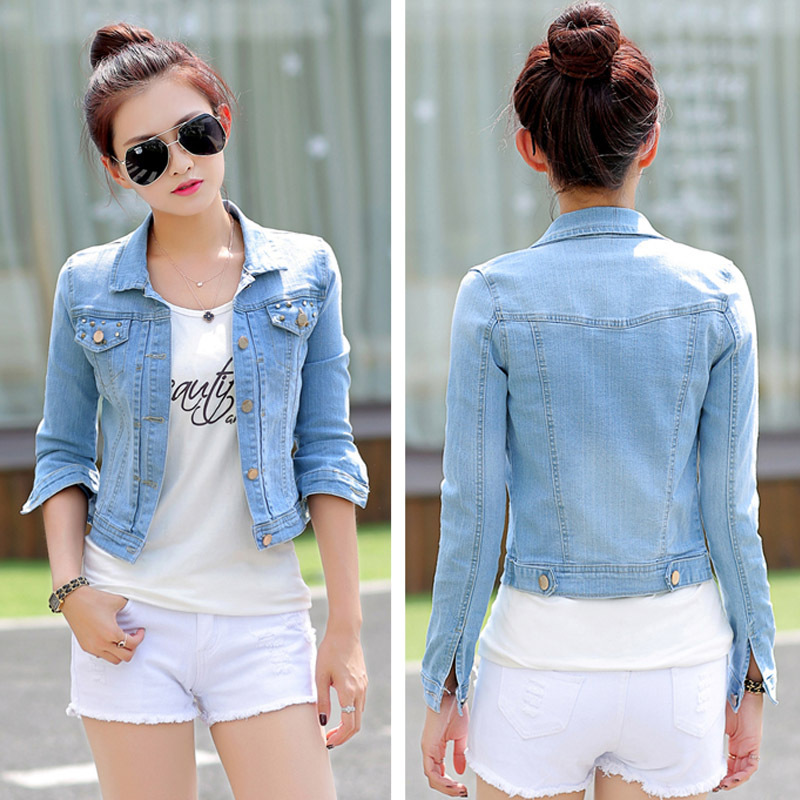 Popular Short Jean Jacket-Buy Cheap Short Jean Jacket lots from ...