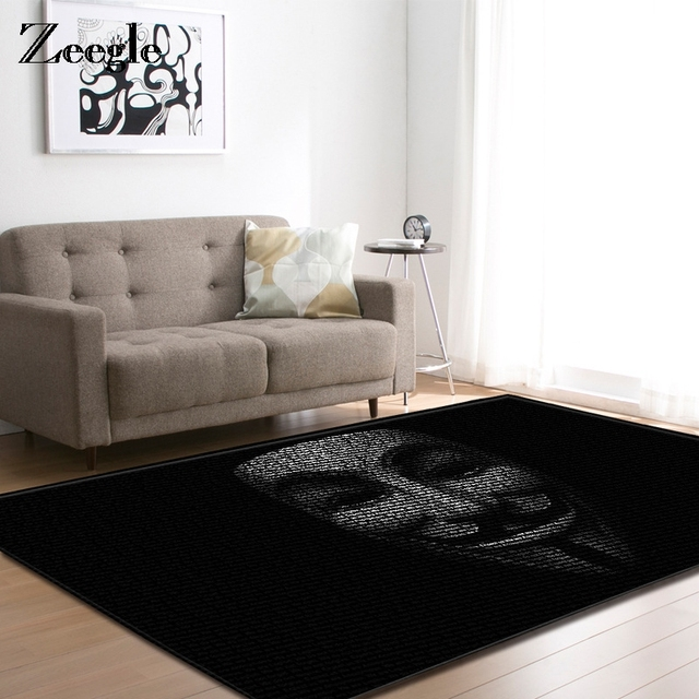 Zeegle Carpets For Living Room Black Style Area Rugs Large Anti slip ...
