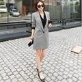 New fashion Women Slim Casual Business Blazer Jackets Suit One Button Slim OL Ladies Blazers Work Wear Blaser