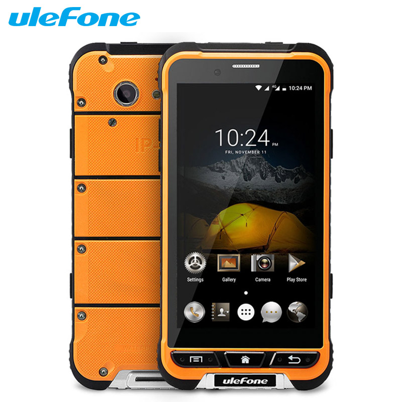 Original Ulefone Armor Cell Phone RAM 3GB ROM 32GB MTK6753 Octa Core 13.0MP Android 6.0 3500mAh Waterproof Shockproof Smartphone