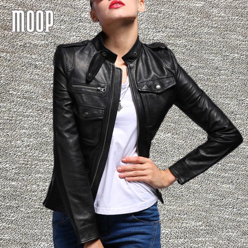 Aliexpress.com : Buy Black genuine leather jackets women 100 ...