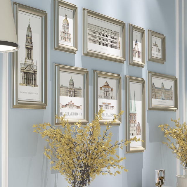 9pcsset Multi Size Photo Framepicture Frames For Wall Decoration