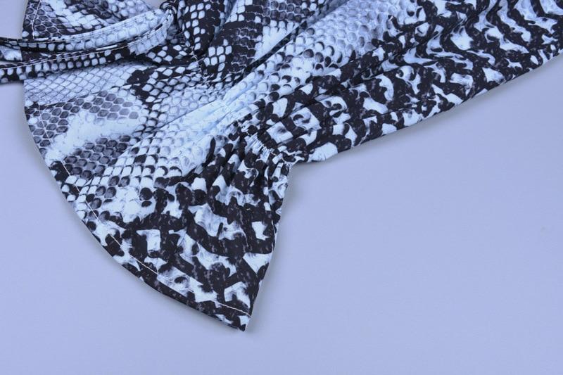 Forefair Snake Print Blouse Women Turtleneck (11)