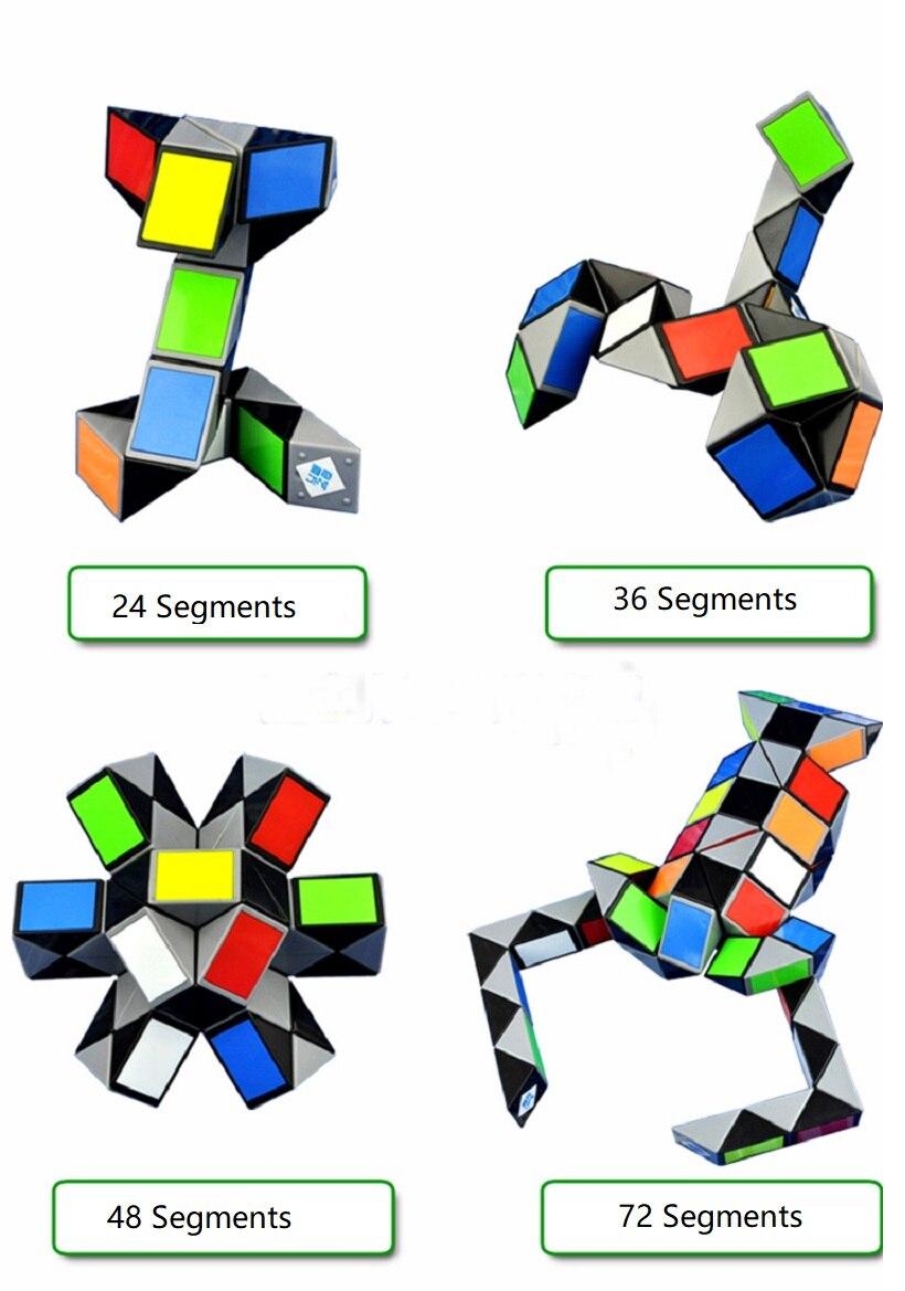 Reliable Mini Snake 24 Segment Small Magic Ruler Cube Creative Twist Puzzle Twisty Toy Intellectual Development Puzzles & Games Magic Cubes