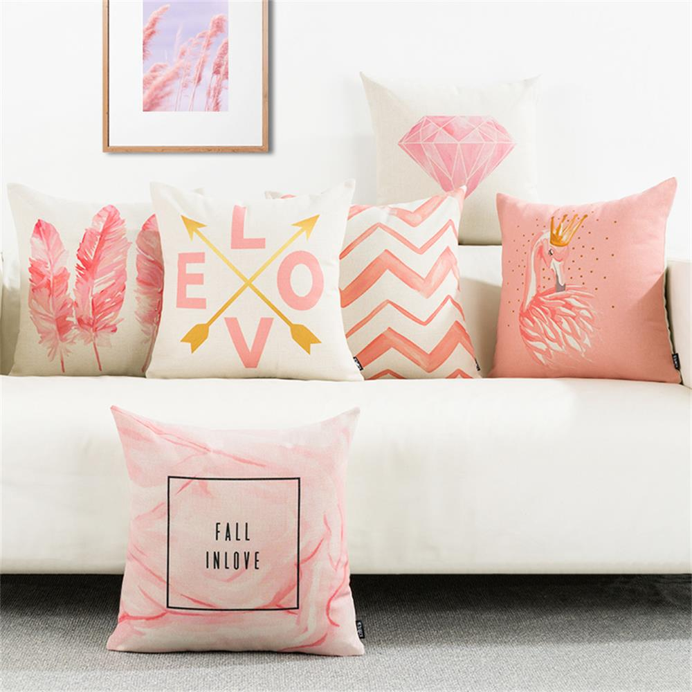 Square Sofa Us 19 98 Pink Girlish Cushion Cover Decorative Throw Pillow Cover Case For Sofa Square Couch Cushion Pillow Shell Home Decor 45x45cm In Cushion