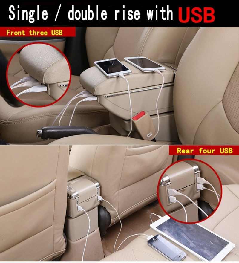 Armrest Box For Nissan NV200 2010-2017 Console Lid Center Storage Box Arm Rest