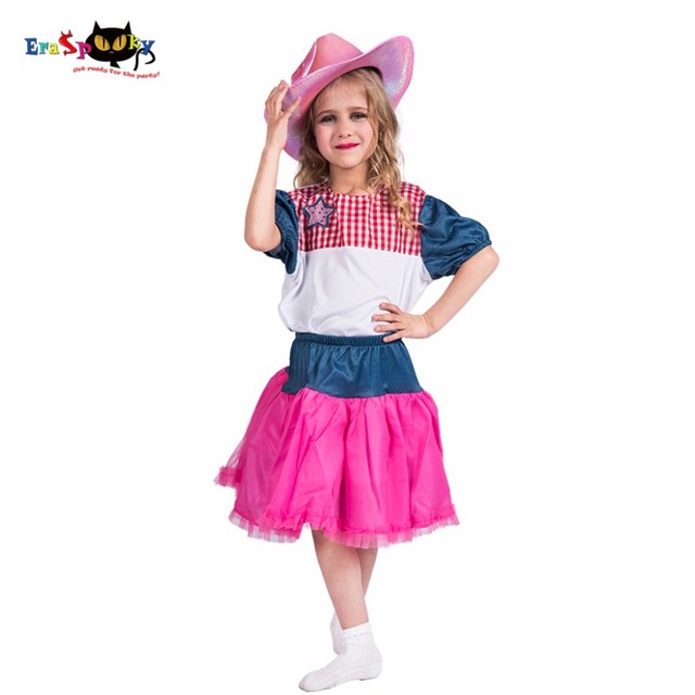 2017 New Arrival Cutie Cowgirl Plaid Pink Cowgirl Costume Kid Dance Suit Outfits Shirt Skirt Hat  sc 1 st  AliExpress.com & 2017 New Arrival Cutie Cowgirl Plaid Pink Cowgirl Costume Kid Dance ...