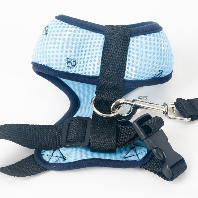 Navy Style Cat Harness with Leash