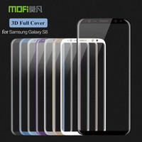 For Samsung Galaxy S8 Glass Tempered Original Mofi 3D Full Cover Screen Protector For Samsung Galaxy