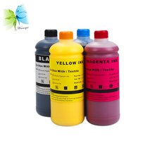 4 Color Direct-To-Garment (DTG) Textile ink for Ricoh Gen5 industrial head printer