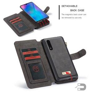 Image 4 - Çok fonksiyonlu cüzdan telefon kılıfı için Huawei P30 Lite P30 Pro fermuar çevirme deri manyetik kapak için Huawei Mate 20 Pro kılıf