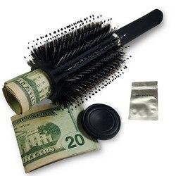 Escova de cabelo Secret Stash Diversion Seguro Pode Desvio Pode Recipiente com um grau alimentício saco à prova de cheiro