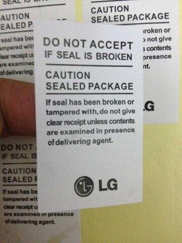 100 pcs lote alta qualidade adesivo para lg selo etiqueta etiqueta para lg f100 f180