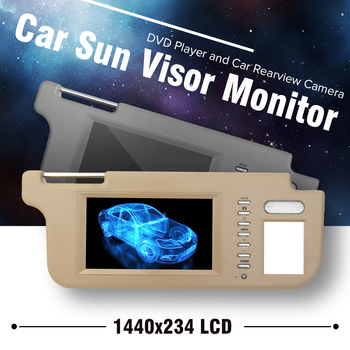 grijsbeige lcd scherm interieur spiegel vizier monitor achteruitrijcamera met draad kit linksrechts voor auto achteruitkijkspiegel camera speler set