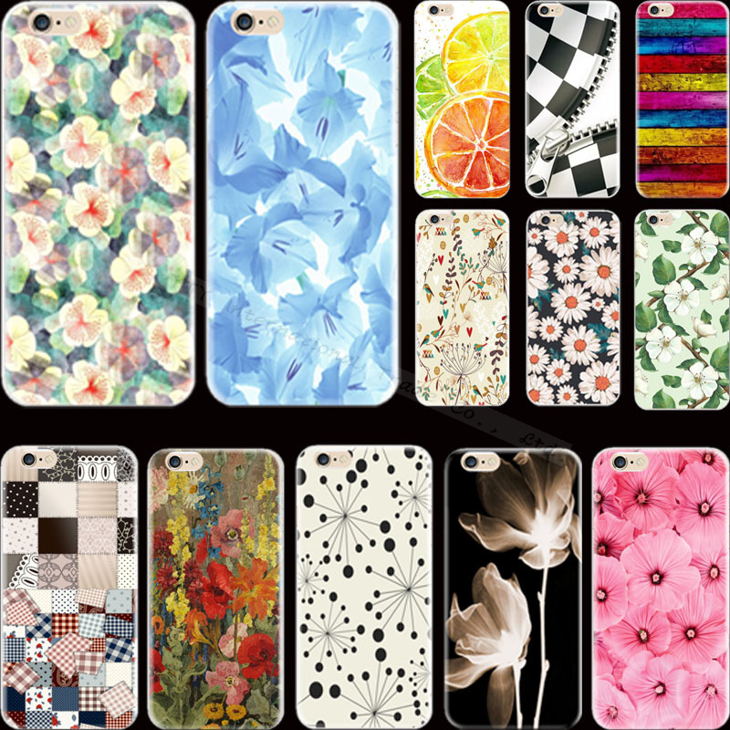 Drop Shipping Top Popular Painting Flowers For Apple iPhone 6 iPhone 6S iPhone6 iPhone6S Case Cover Shell Elegant Styles Newest