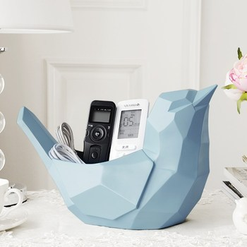 Geometry Birds Storage Box Statue Origami Animal Resin Craftwork Home Decoration Accessories For Living Room 2991