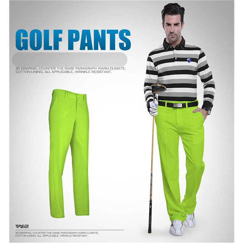 PGM Golf Pants Men Quick Drying Thin Pants Plus Size Golf Mens Clothes High Elastic Trousers for Men Waterproof Colorful Pants