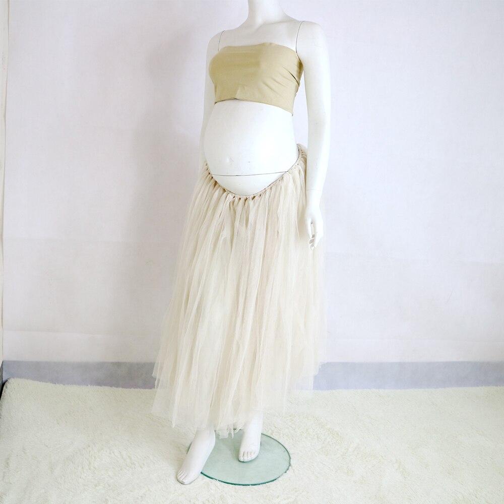 Sample Clearance!Soft Gauze TUTU Skirt for Pregnant Mom Adjustable belt on Skirt Maternity Photography Dress Baby Shower Gift