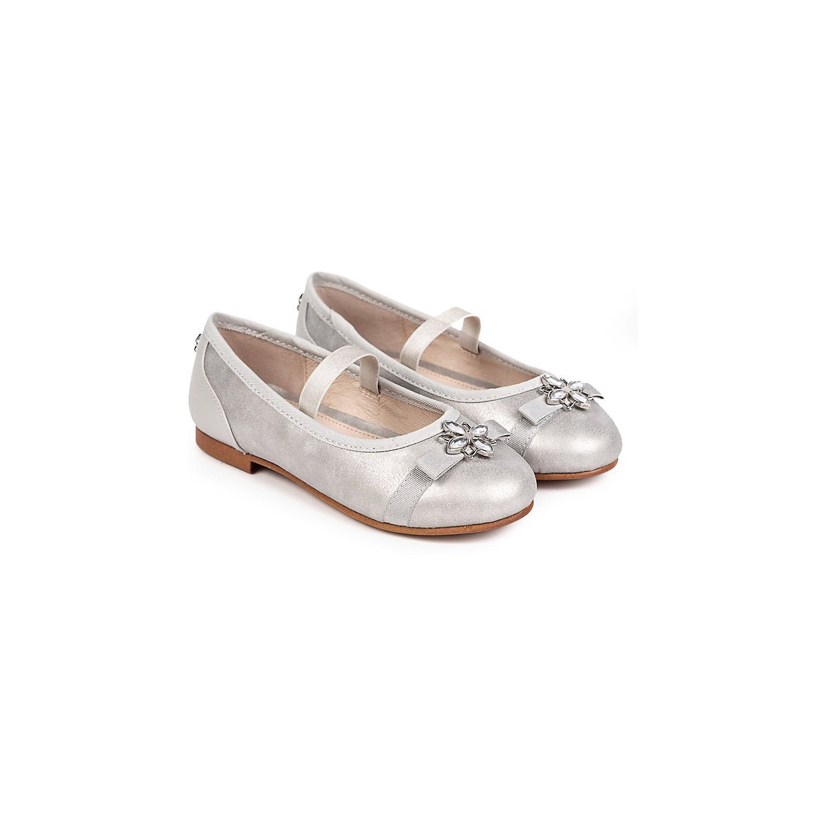 MAYORAL Children's Flats 10642689 silver summer ballet all-season elegant footwear Shoes for girls girl