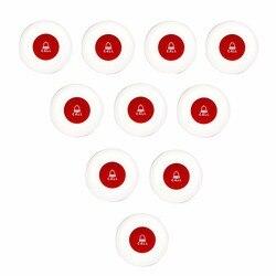 10 шт. 4 цвета один ключ кнопку вызова передатчик Беспроводной офис клуба вызова официанта Системы пейджер ресторан оборудование 433 мГц f3250