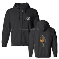 Spring Autumn Men's Cotton Hoodie Skeleton With Gypsy Jazz Guitar Print Hoodies Hip Hop Sweatshirt Coats Harajuku Streetwear