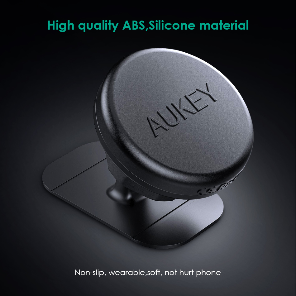 AUKEY 360 Degree Universal Car Holder For iPhone 8 7 Magnetic Car Phone Holder for Samsung Xiaomi HTC Mobile Phone Holder Stand sx 005 360 degree rotating vehicle general magnetic phone mount holder