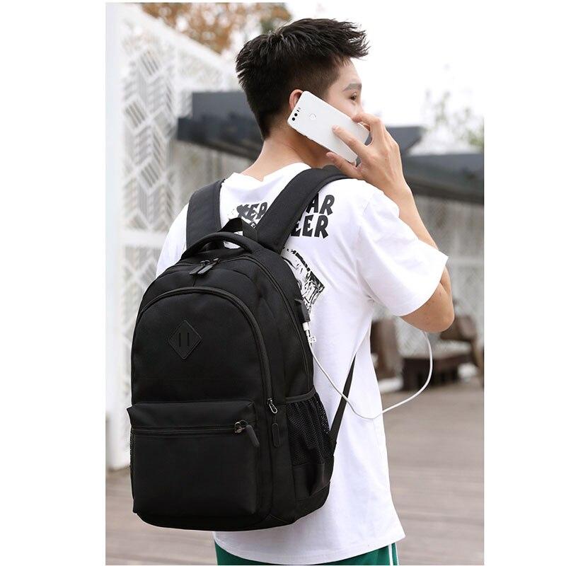 Man Male School  Backpack Travel Rucksack Shoulder Laptop Bag With