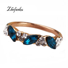 Fashion Rings Wholesale Cute Vintage Crystal Ring For Women Fancy Jewelry Retro Feel Sweet Female Angel Rings(China)