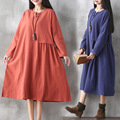 Retro Maternity Dresses Full Sleeve Loose Long Formal Pregnancy Clothes Hot Sale Spring Fashion Pregnant Shirt Dress CE299