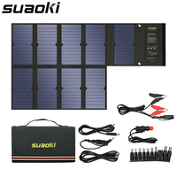 Suaoki 60 Вт панели солнечные 5 В в USB и 18 В DC выход портативный складной Дополнительный внешний аккумулятор Солнечное зарядное устройство для см