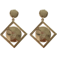 Simple Temperament Female Fashion Metallic Smooth Surface Earrings For Women Jewelry
