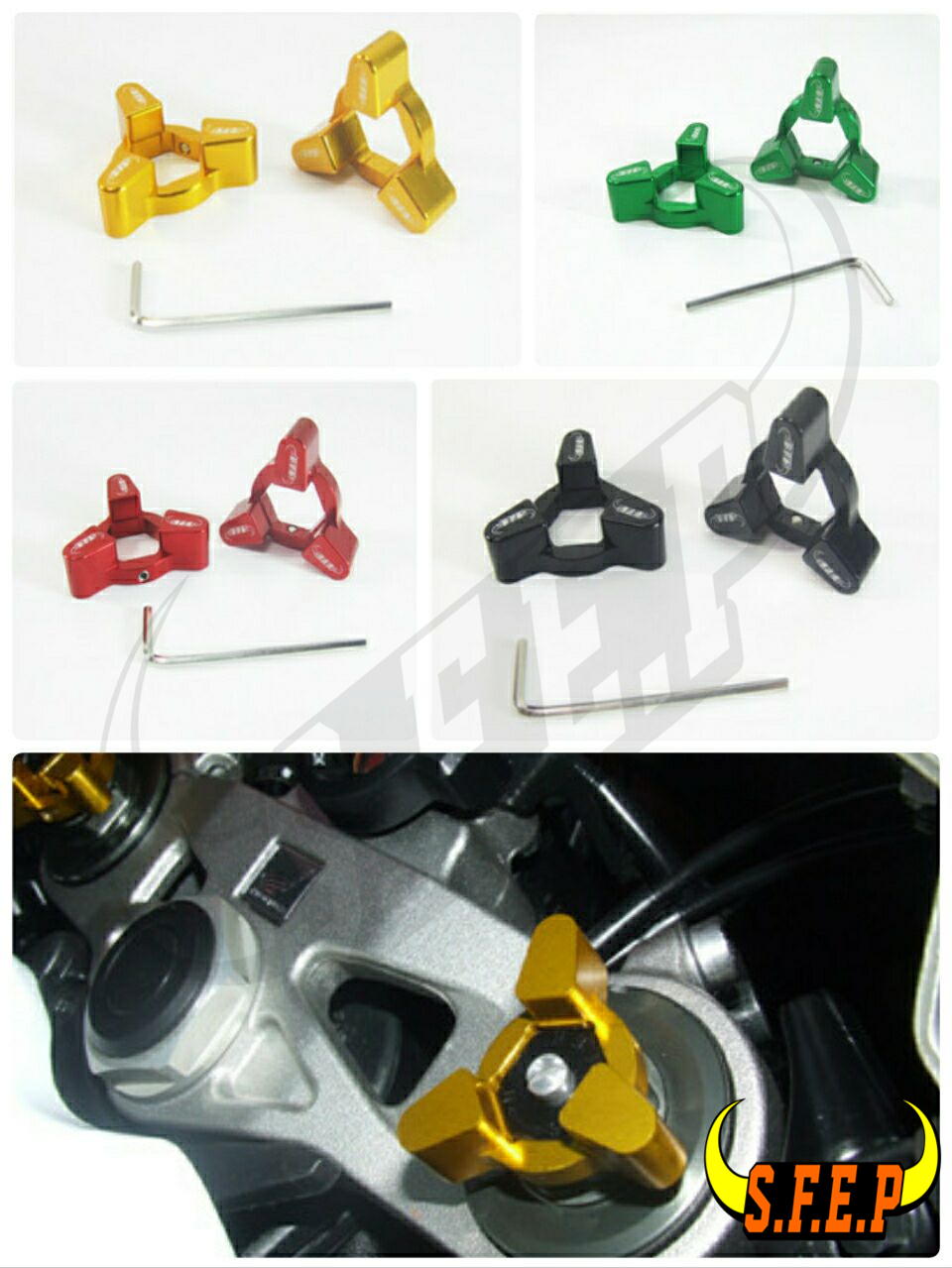 Motorcycle CNC Fork Preload Adjusters For Suzuki GSXR 600 06-10/GSXR 750 06-10/ GSX650F 08-10
