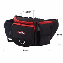 Piscifun Multifunctional Waterproof Zipper Fishing Bag Lure Waist Pack Bag Pole Package Mulit Pocket Fishing Tackle Bag