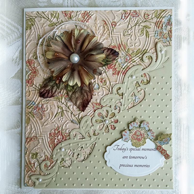 JCarter Lace Pattern Edge Dies Frame Metal Cutting Dies for Scrapbooking DIY Album Embossing Folder Cards Photo Template Stencil in Cutting Dies from Home Garden