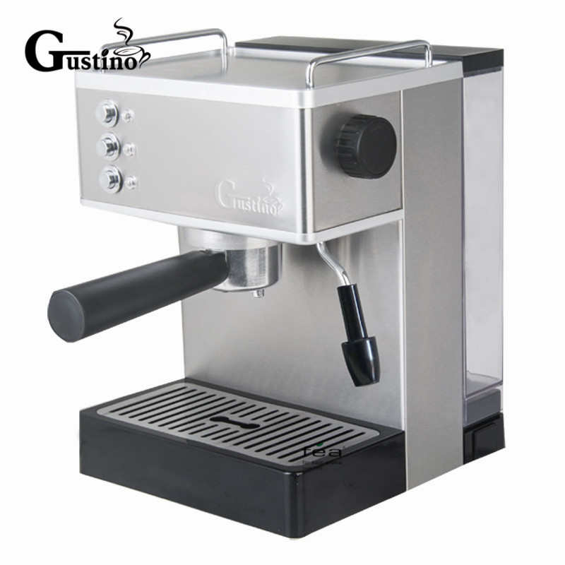 Gustino 19Bar Semi Automatic Coffee Maker Espresso Machine with Froth Milk Stainless Steel 304 Housing for Home or Office Using italy espresso coffee machine semi automatic maker cup warming plate kitchen