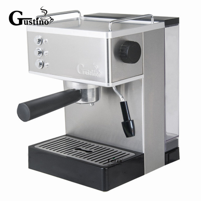 Gustino 19bar Semi Automatic Coffee Maker Espresso Machine With Froth Milk Stainless Steel 304 Housing For