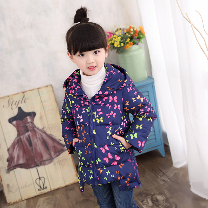 Child jacket Girl Spring Jackets for girls winter coat fashion children clothing Kids Hooded Coat Thicken cotton-padded jacket цены онлайн