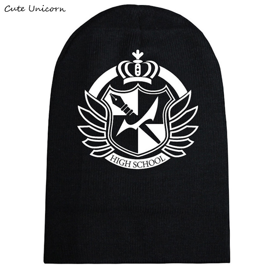 Dangan Ronpa autumn winter hat beanies unisex knitted cap casual hats for women hip hop Skullies anime beanie female gorro