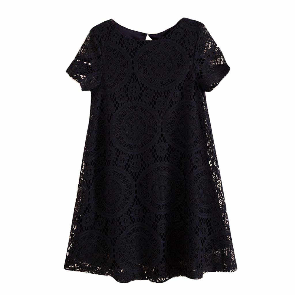 MISSOMO summer dress Women Plus size 5XL Solid Short Sleeve O-Neck Lace Hollow out Dress robe femme vestidos