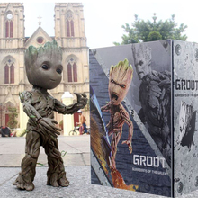 1:1 Marvel Guardians of The Galaxy Avengers Cute Baby Young Tree Man BJD 25CM Action Figure KO's HT Hot Toys Legends toyspark marvel legends series 6 ego guardians of the galaxy vol 2 action figure from star lord 2pack collectible no retail box