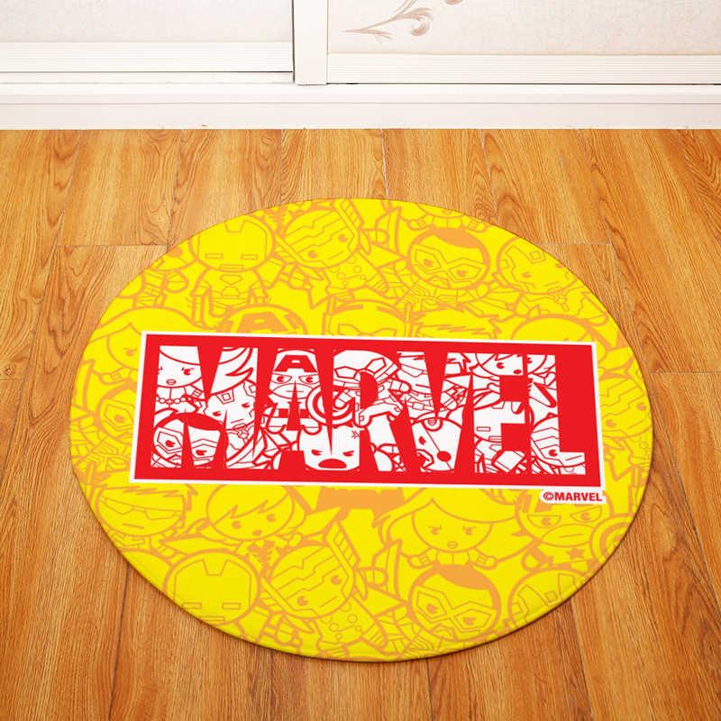 Высокое качество модные Marvel круглый стул/стол коврики гостиная спальня области ковры декоративные 80 см Диаметр