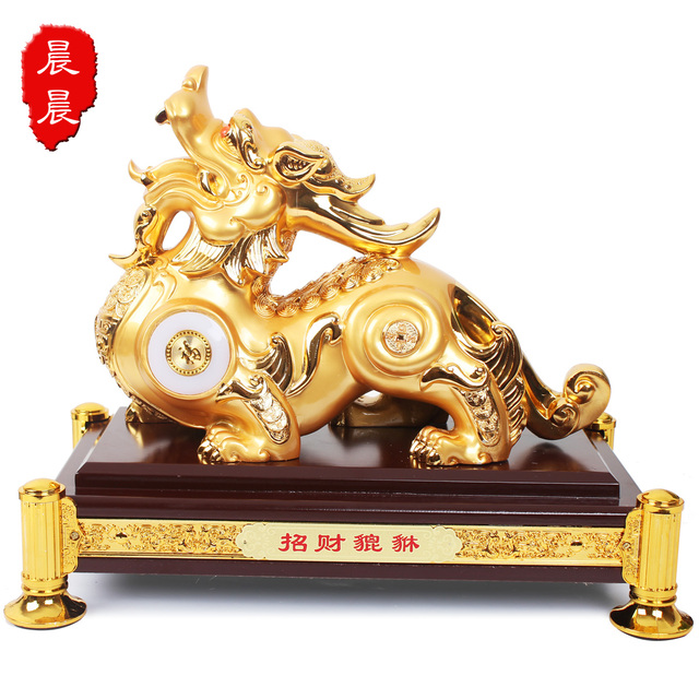 Lucky pi xiu decoration Large lucky gold plated decoration feng shui decoration home