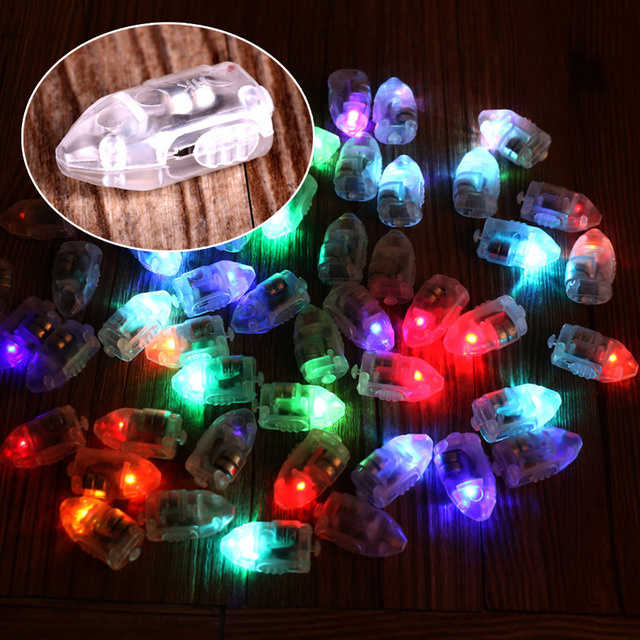 50pcs/lot LED RGB Flash Lamps Balloon Lights for Paper Lantern Balloon Light White, Red, Blue, Green, Yellow Wedding Decoration