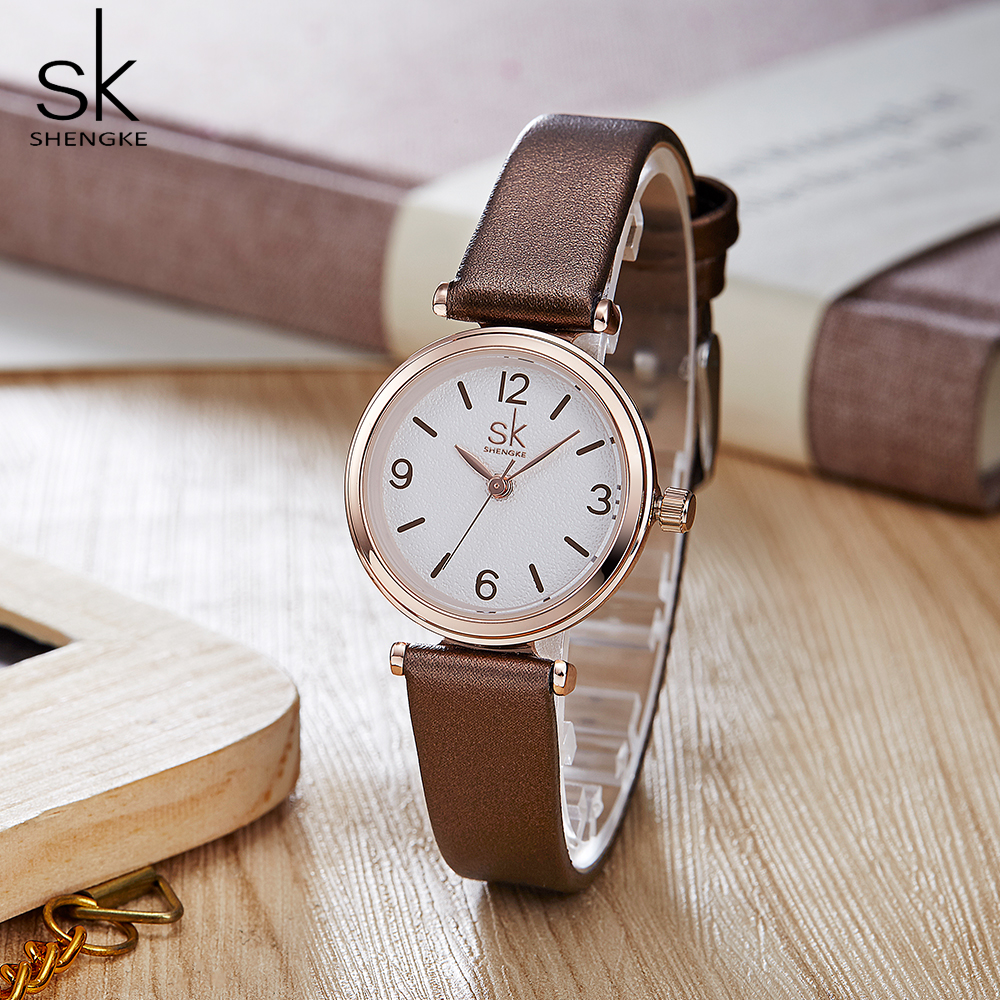 Shengke Wristwatches Relogio Feminino Top Brand Luxury Ladies Watch Quartz Classic Casual Analog Watches Women