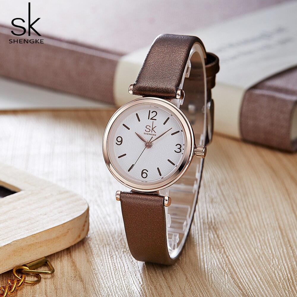 Shengke Wristwatches Relogio Feminino Top Brand Luxury Ladies Watch Quartz Classic Casual Analog Watches Women