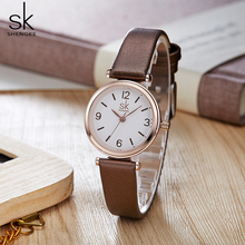 Shengke שעוני יד relogio feminino למעלה מותג יוקרה גבירותיי שעון קוורץ קלאסי מקרית אנלוגי שעונים נשים