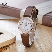 Shengke zegarki na rękę relogio feminino Top marka luksusowe damskie zegarki kwarcowe klasyczne Casual zegarki analogowe damskie