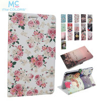 For Huawei T3 8 0 KOB L09 KOB W09 PU Leather Case Cover Slim Colorful Print