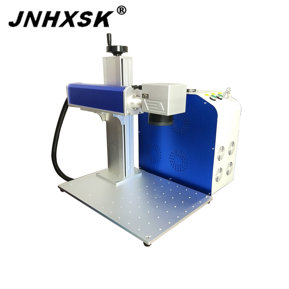 JNHXSK For Sale Laser Marker Raycus Laser Marking Machine Nameplate Stainless Steel Metal Cnc Rotary Axis Desktop Portable